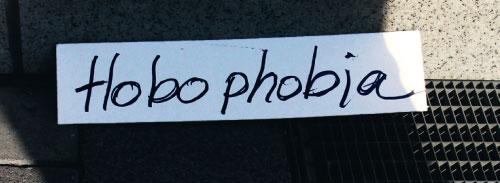 Ausschnitt aus Hobophobia Postkarte